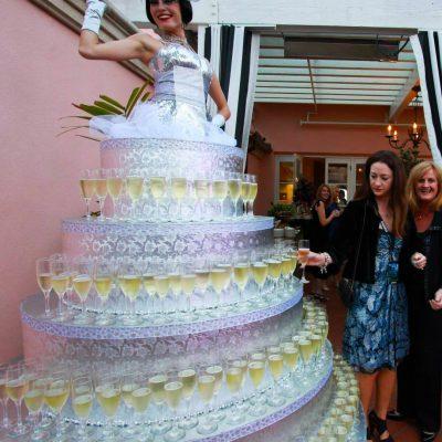 Human Champagne Cake