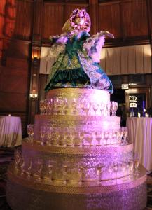 Masquerade Champagne Cake 1